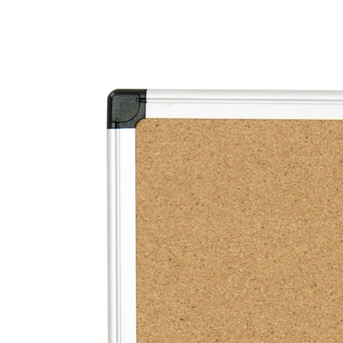 pizarra olami corcho con marco de aluminio 45 x 60 cm.