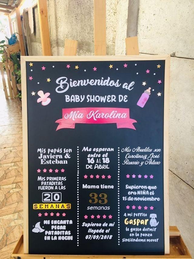 Pizarra Personalizada Foto Marco nuevo bebé marco de pizarra Bautizo Pizarra Marco