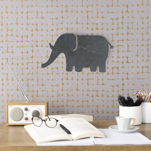 pizarra pizarrón elefante - decoración cuarto niño niña
