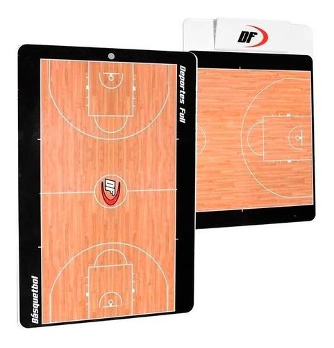 pizarra táctica de basquet basket df ambos lados entrenador