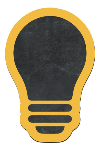 pizarras decorativa lampara amarilla madera no vinilo 25x17