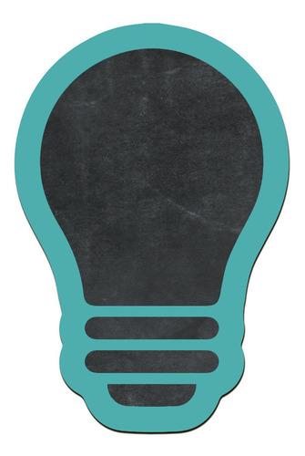 pizarras decorativa lampara verde madera no vinilo 25x17cm