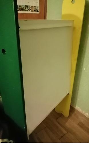pizarrón blanco con base 162x84 cm