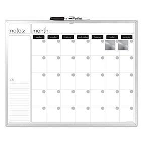 Calendario En Blanco.Pizarron Blanco Con Calendario 40 X 50 Cm Envio Gratis