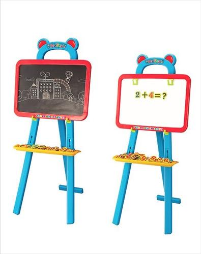 pizarrón caballete best toys infantil con doble vista
