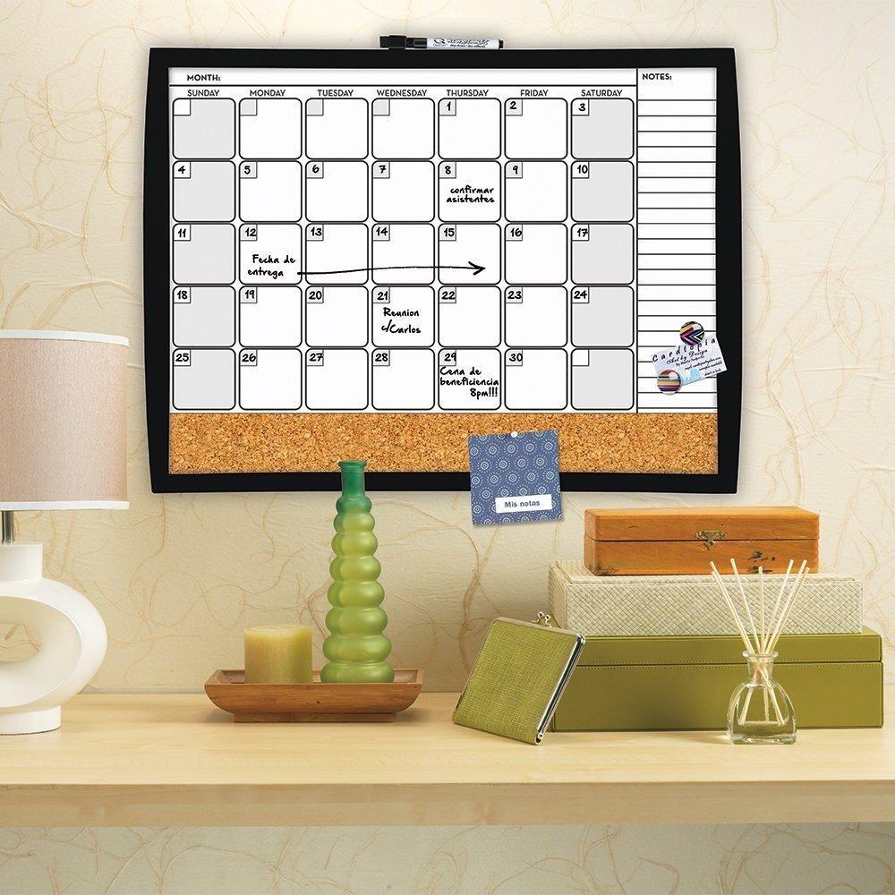 Pizarron Calendario Planeador + Corcho Y Notas Ideal - $ 398.56 en ...
