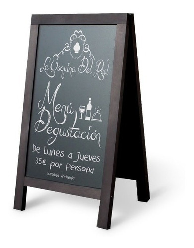 pizarron doble vista p restaurant bar 47cm x 110cm 12 meses!
