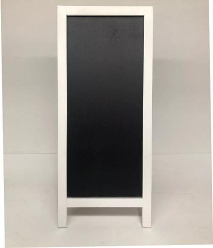 pizarron negro doble vista para restaurant bar  47cm x 110cm