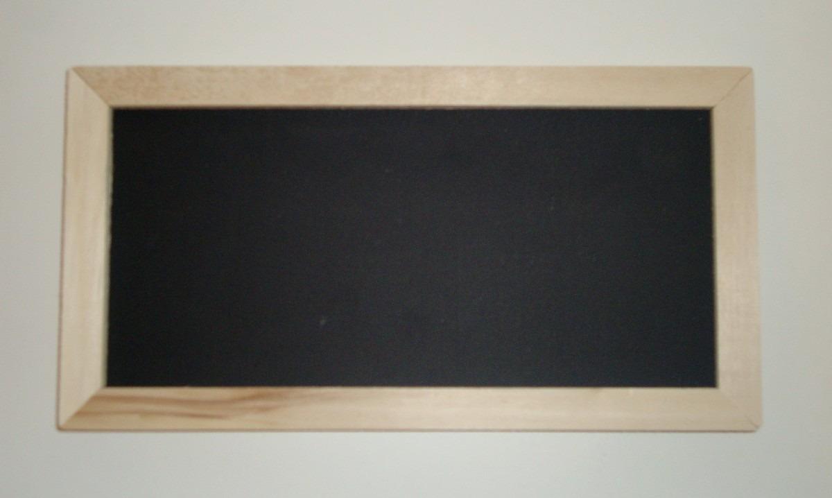 Pizarrón Para Tiza Negro 14 X 30 Cm - Marco Madera - $ 73,00 en ...