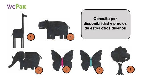 pizarrón pizarra decorativa hipopotamo 34x21cm (no vinilo)