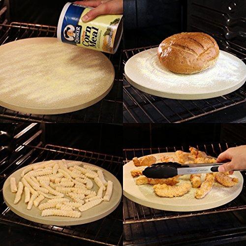 pizza de piedra para cocinar hornear asar a la parrilla - 1