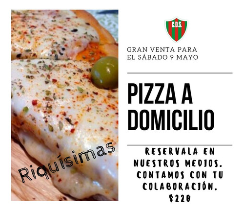 pizza lista a domicilio