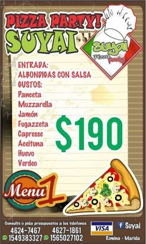 pizza party $220