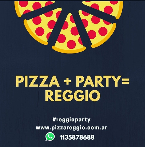 pizza party a domicilio, zona sur. lomas, adrogue, lanus,etc