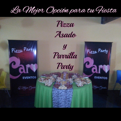 pizza party caroeventos - servicio de catering a domicilio