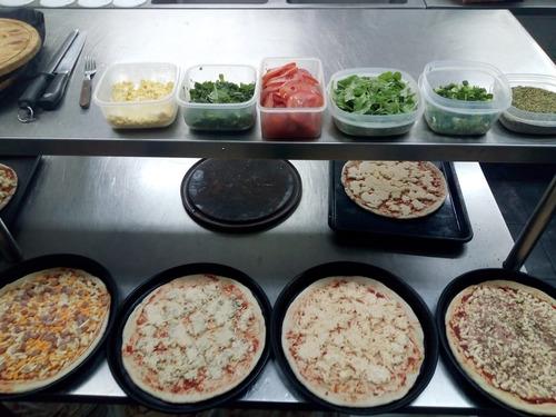 pizza party con opción de entrada y postre