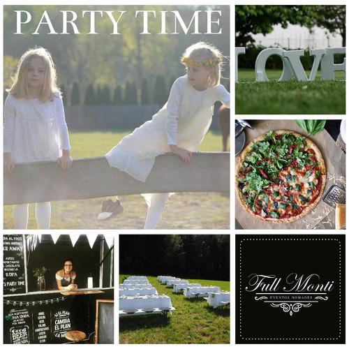 pizza party: food truck + livings + gazebos (ver otros menú)