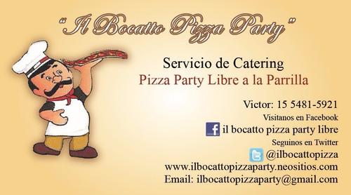 pizza party  il bocatto a la parrilla, premium y gourmet