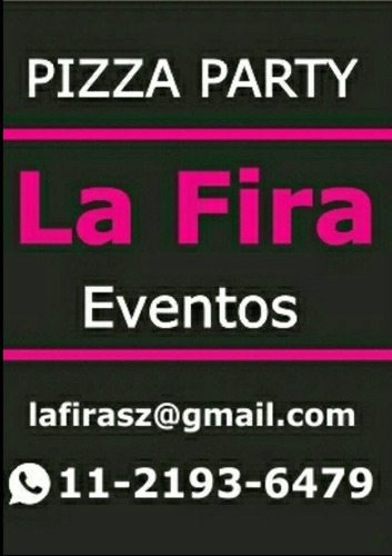 pizza party la fira eventos, barra de tragos y servicio kids