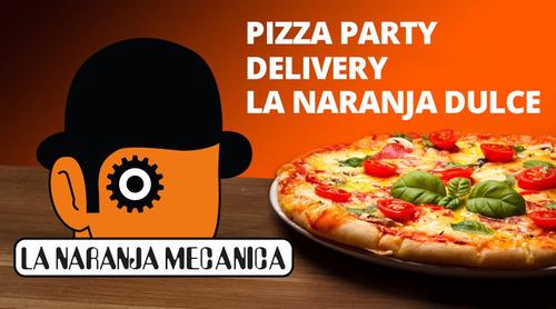 pizza party la naranja mecánica pizza empanada mesa dulce