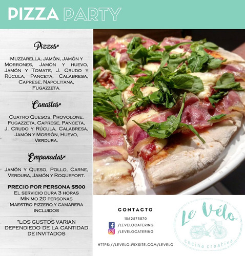 pizza party le vélo ($500) catering
