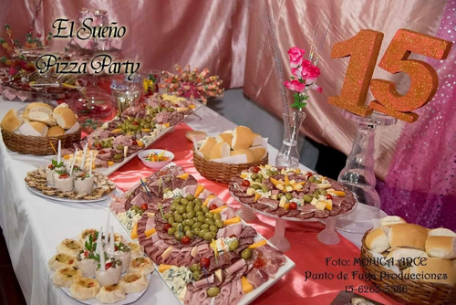 pizza party, pastas, perniles, catering el sueño catering