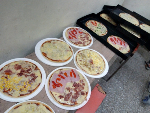 pizza party, prepizzas, servicio de lunch, tortas....