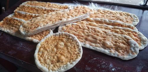 pizza x metro, pizzetas estilo italiano todo a la piedra