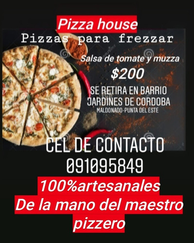 pizzas para frezzar por pedido