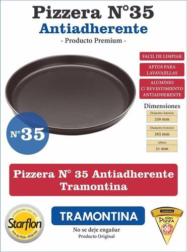 pizzera antihaderente tramontina n35 starflon pizza