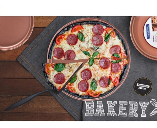 pizzera tramontina vermont teflon color cobre 35 cm