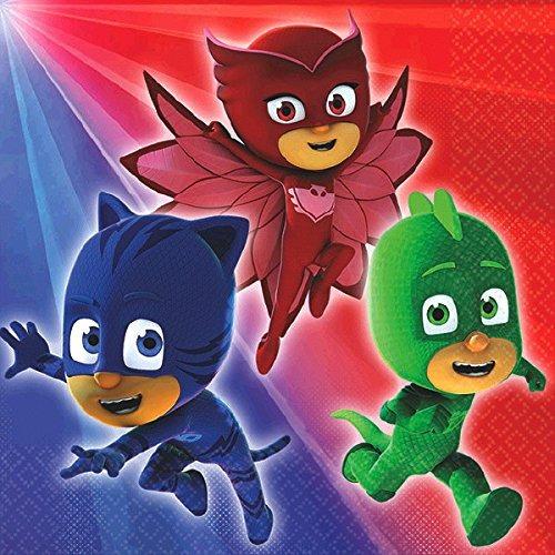 0d7c356c09 Pj Heroes Pijama Fiesta Platos Tarta Bev Servilletas Juego T ...