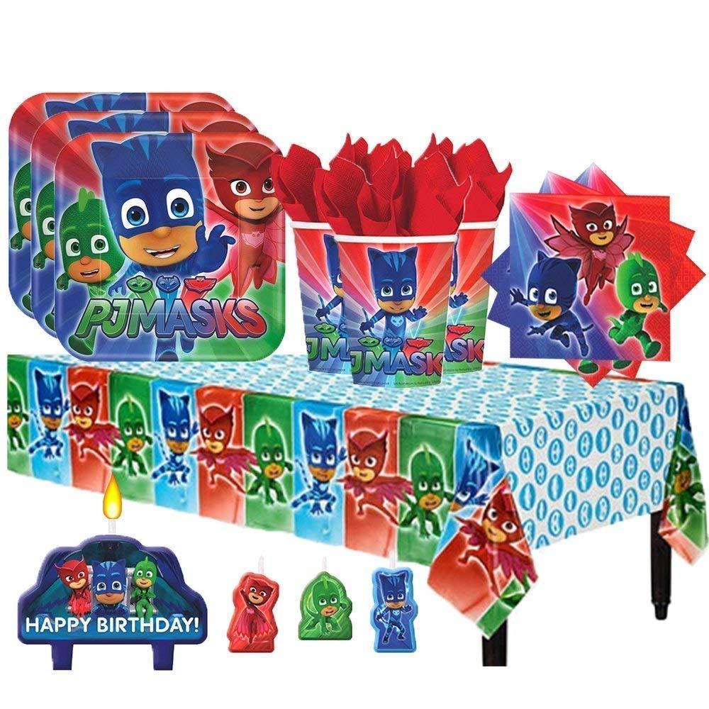 4a316603d9 Pj Heroes Pijama Paquete Fiesta Cumpleaños 16 + Platos Vasos -   150.356 en  Mercado Libre