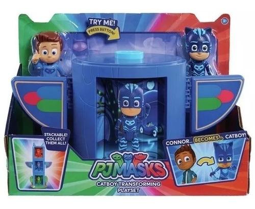 pj masks 2 en 1 heroes en pijamas originales catboy nene