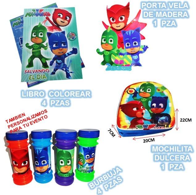 Pj Masks Heroes En Pijama Dulcero, Platos, Vasos Fiesta - $ 35.00 en ...