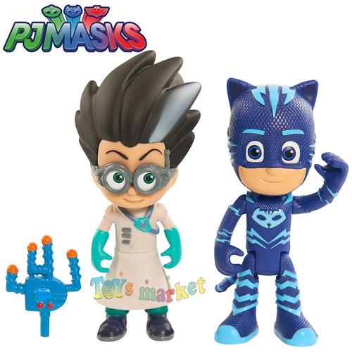 pj masks muñecos x2u cat boy romeo gecko ninja ululette luna