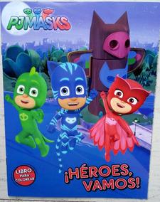 Pj Masks Set 80 Libros Colorear Gekko Heroes Pijamas C Envio