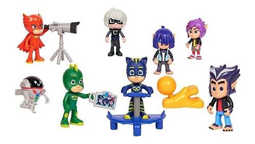 pj masks set de figuras x 4 héroes en pijamas