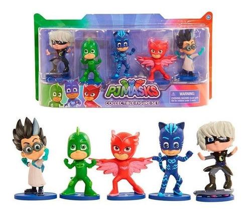 pjmask figuras coleccionables set x 5 und 24580 juguetes