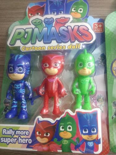 pjmask - héroes en pijamas *3 muñecos