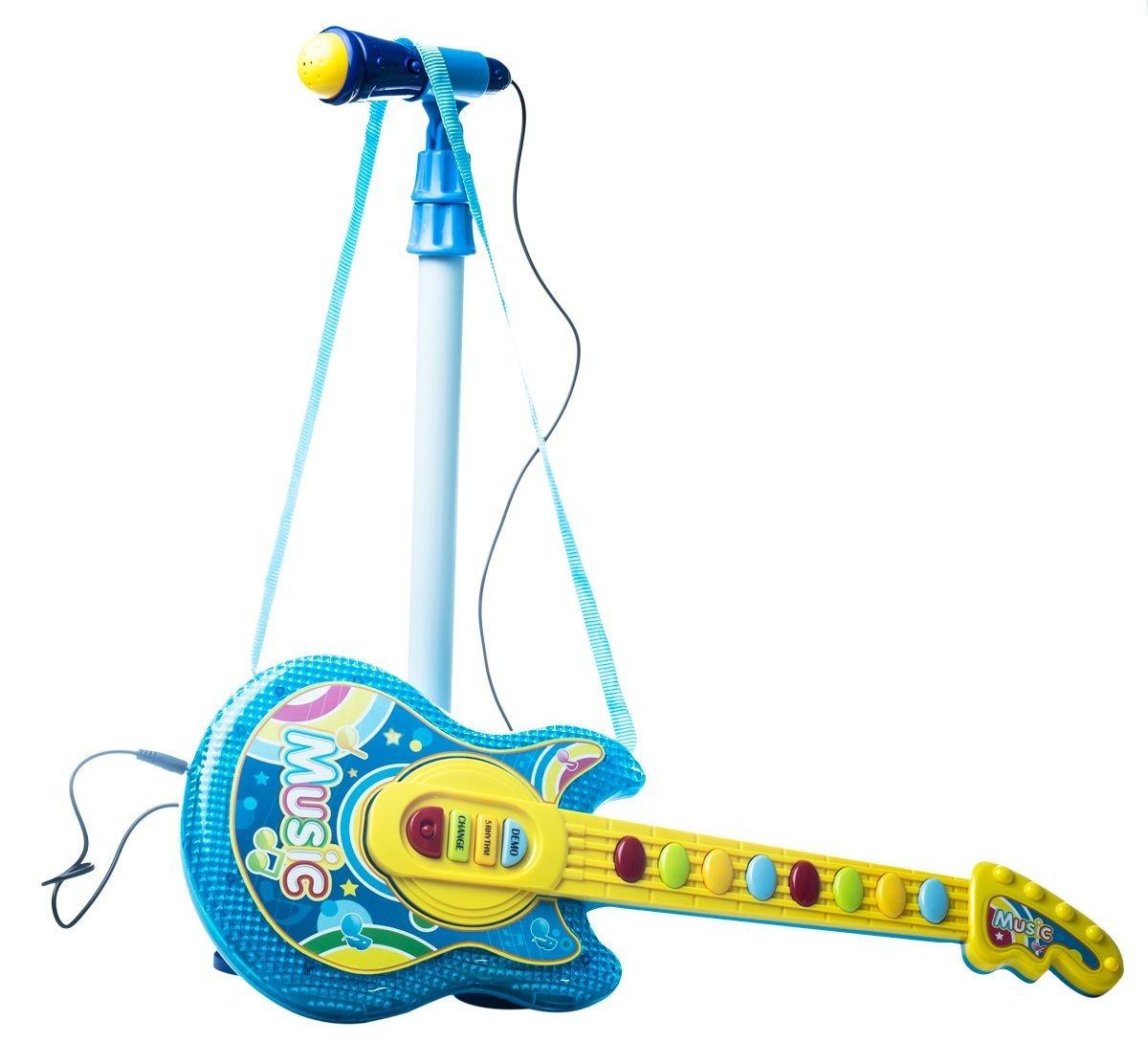 Pk Electrica Niñas Regalos Juguetes Guitarra 6012c Niños Kit q54ARL3j