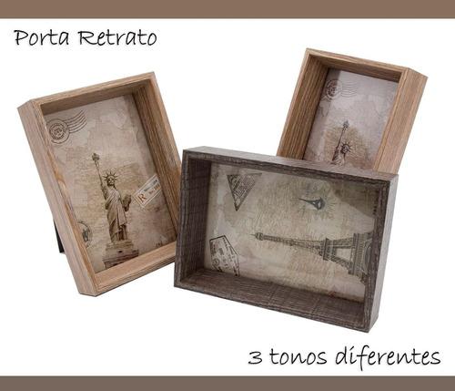 pk portaretrato madera 4x6 decorativos cuadros hogar fh003