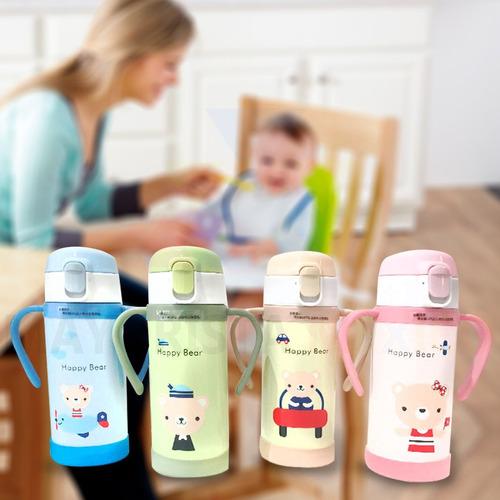 pk termo vaso c/ popote suave acero inox bebes niños 801-1