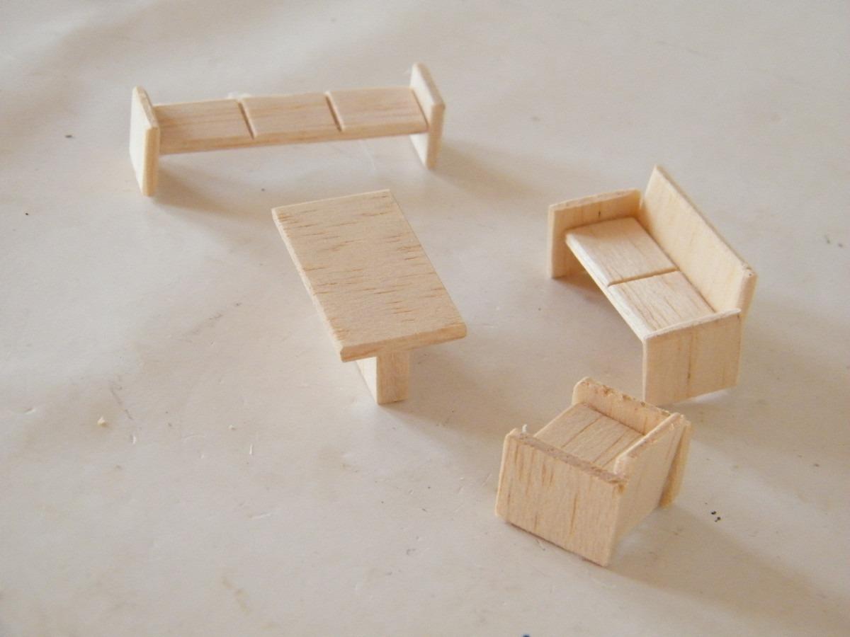 Pkt mobiliario para maquetas sala de espera 1 50 for Como hacer muebles para sala