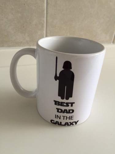 pkt playera y taza best dad in the galaxy star wars