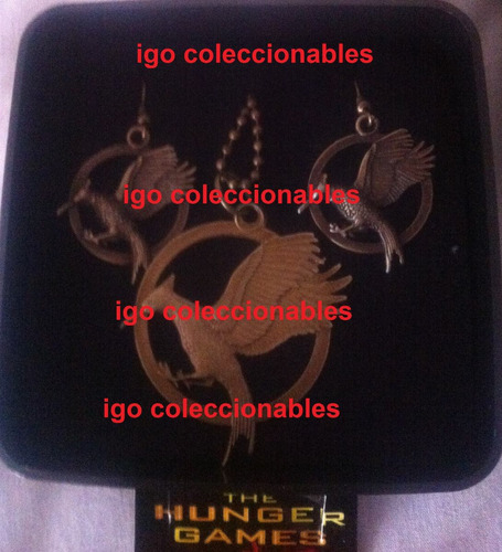 pkt sinsajo dije + aretes hunger games igo en llamas mercenv