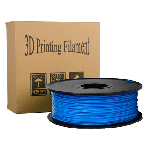 pla 3d printing filamento biodegradable material azul