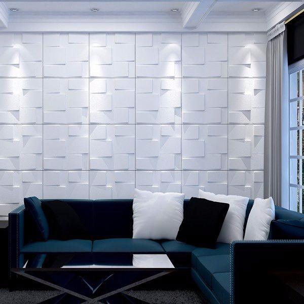 placa 3d board 50x50 pvc revestimento de parede pre o m On placas de pvc para paredes