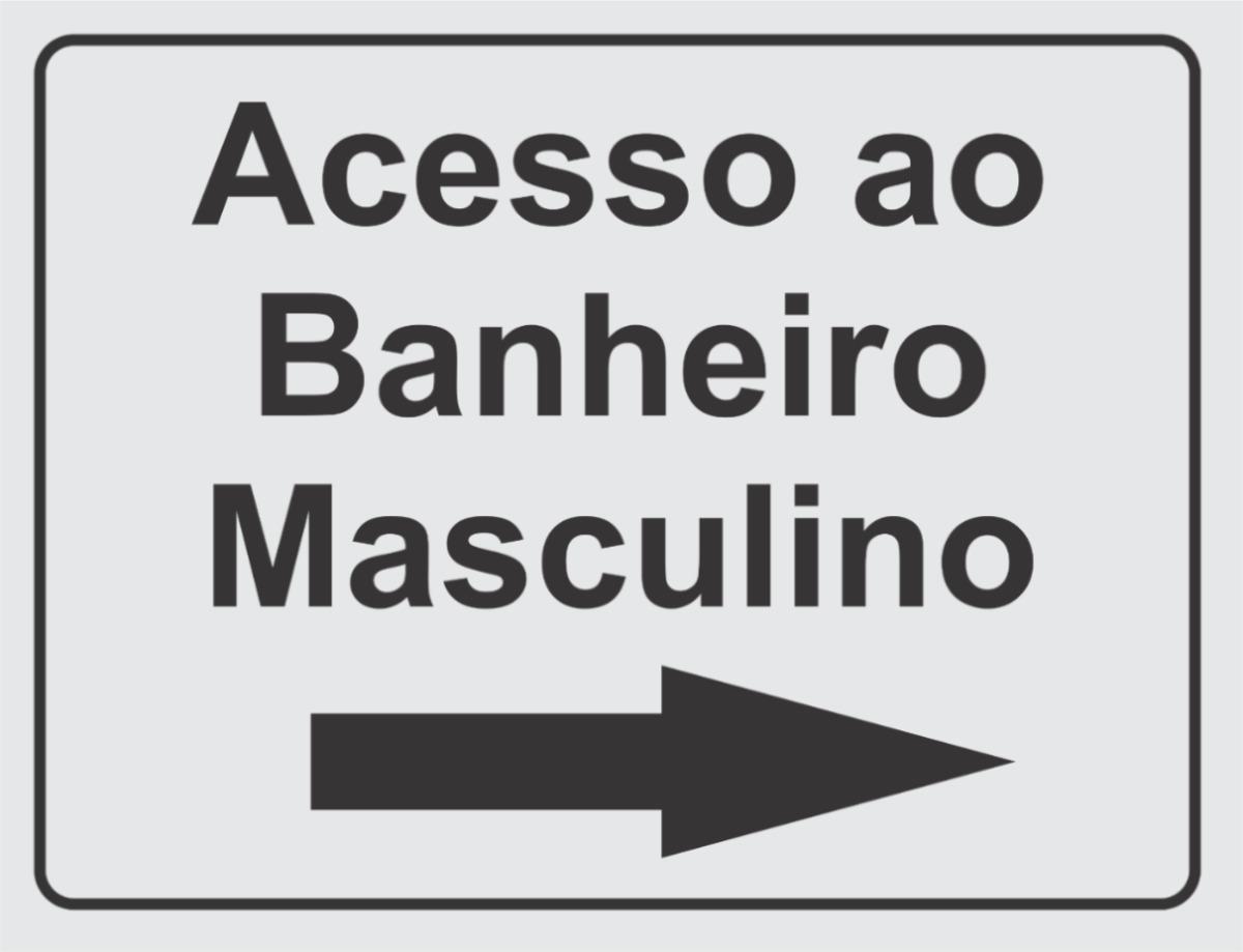 Placa Acesso Ao Banheiro Masculino  R$ 10,00 em Mercado Livre -> Banheiro Feminino E Masculino Para Imprimir