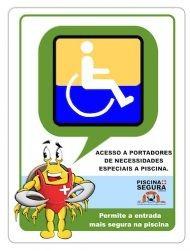 placa acesso cadeirante